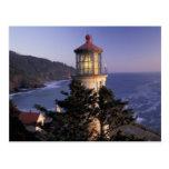 NA, USA, Oregon, Heceta Head Lighthouse, Postcard