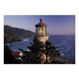 NA, USA, Oregon, Heceta Head Lighthouse, Poster