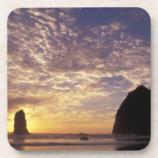 NA, USA, Oregon, Oregon Coast, Canon Beach with Beverage Coaster