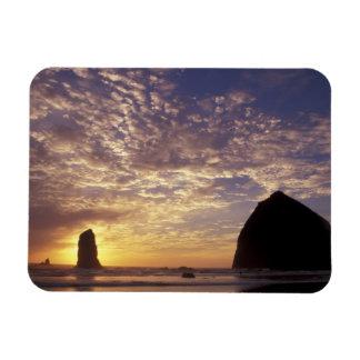 NA, USA, Oregon, Oregon Coast, Canon Beach with Magnet