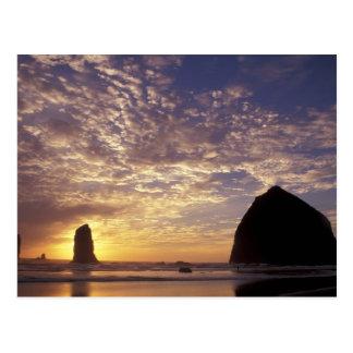 NA, USA, Oregon, Oregon Coast, Canon Beach with Postcard