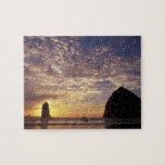 NA, USA, Oregon, Oregon Coast, Canon Beach with Puzzle