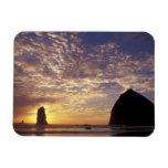 NA, USA, Oregon, Oregon Coast, Canon Beach with Rectangular Photo Magnet