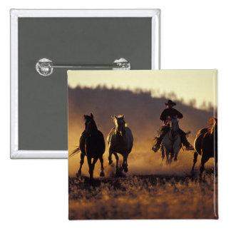 NA, USA, Oregon, Seneca, Ponderosa Ranch, Cowboy 2 2 Inch Square Button