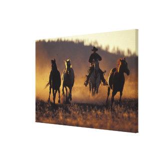 NA, USA, Oregon, Seneca, Ponderosa Ranch, Cowboy 2 Canvas Print