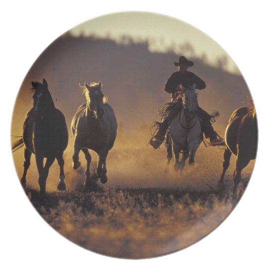 NA, USA, Oregon, Seneca, Ponderosa Ranch, Cowboy 2 Melamine Plate