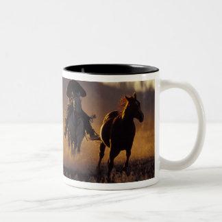 NA USA Oregon Seneca Ponderosa Ranch Cowboy 2 Mugs