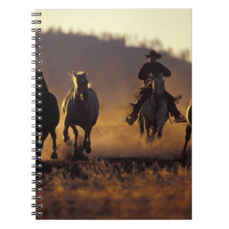 NA, USA, Oregon, Seneca, Ponderosa Ranch, Cowboy 2 Spiral Notebook
