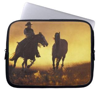 NA, USA, Oregon, Seneca, Ponderosa Ranch, Cowboy 3 Computer Sleeve
