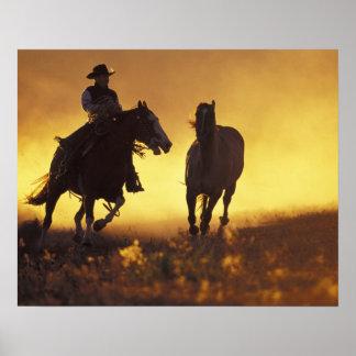 NA, USA, Oregon, Seneca, Ponderosa Ranch, Cowboy 3 Poster