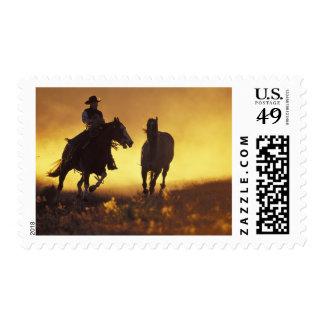 NA, USA, Oregon, Seneca, Ponderosa Ranch, Cowboy 3 Stamp