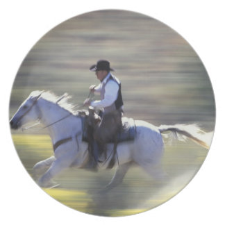 NA, USA, Oregon, Seneca, Ponderosa Ranch, Cowboy Dinner Plates