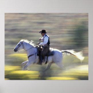 NA, USA, Oregon, Seneca, Ponderosa Ranch, Cowboy Poster