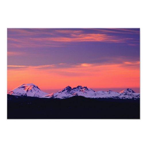 NA, USA, Oregon, The Three Sisters Mountains Photo Print