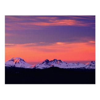 NA, USA, Oregon, The Three Sisters Mountains Postcard