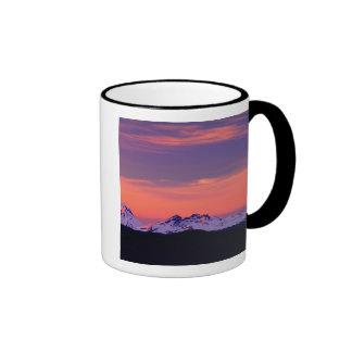 NA, USA, Oregon, The Three Sisters Mountains Ringer Mug