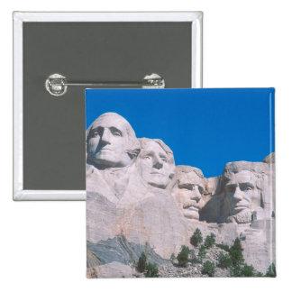 NA, USA, SD, Mount Rushmore. 2 Inch Square Button
