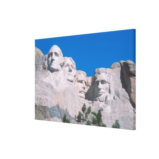 NA, USA, SD, Mount Rushmore. Canvas Print
