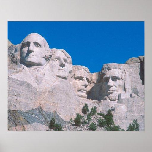 NA, USA, SD, Mount Rushmore. Poster