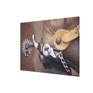 NA, USA, Texas, Lubbock Cowboy boot and spur Canvas Print