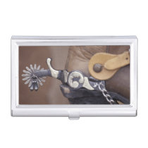 NA, USA, Texas, Lubbock Cowboy boot and spur Case For Business Cards