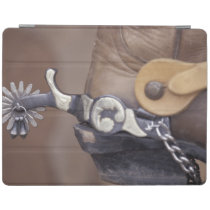 NA, USA, Texas, Lubbock Cowboy boot and spur iPad Smart Cover