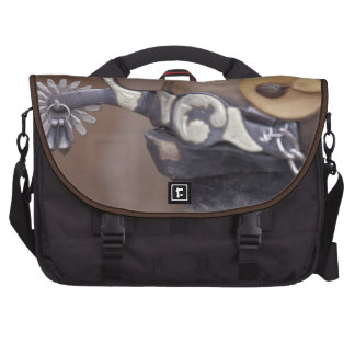 NA, USA, Texas, Lubbock Cowboy boot and spur Laptop Bags