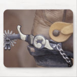 NA, USA, Texas, Lubbock Cowboy boot and spur Mouse Pad