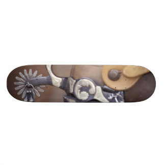 NA, USA, Texas, Lubbock Cowboy boot and spur Skateboard Deck