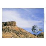 NA, USA, Texas Windmill and cliffs of Palo Duro Card