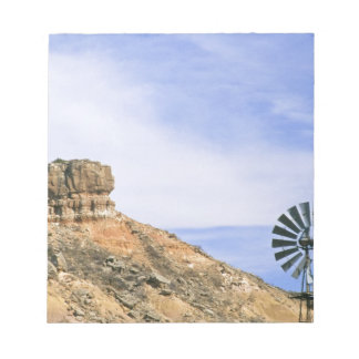 NA, USA, Texas Windmill and cliffs of Palo Duro Notepad