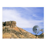 NA, USA, Texas Windmill and cliffs of Palo Duro Post Cards