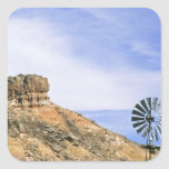 NA, USA, Texas Windmill and cliffs of Palo Duro Sticker