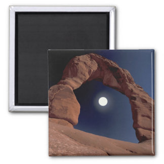 NA, USA, Utah, Arches National Park. Delicate 2 Inch Square Magnet