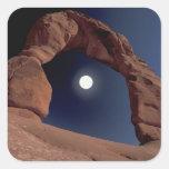 NA, USA, Utah, Arches National Park. Delicate Square Sticker
