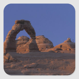 NA, USA, Utah, Arches National Park. Delicate Square Sticker