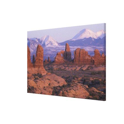 NA, USA, Utah, Arches National Park. Garden of Canvas Print