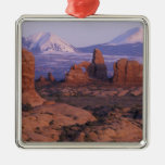 NA, USA, Utah, Arches National Park. Garden of Square Metal Christmas Ornament