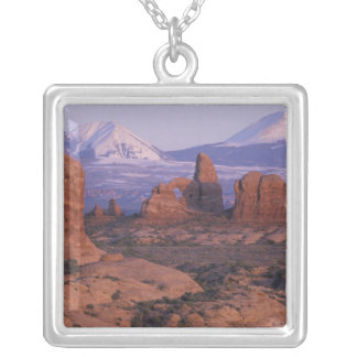 NA, USA, Utah, Arches National Park. Garden of Square Pendant Necklace