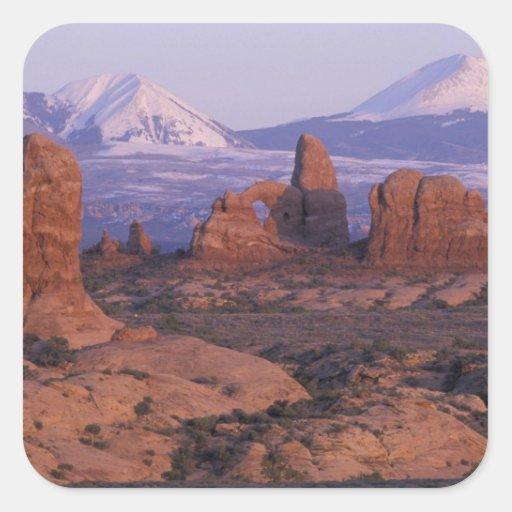 NA, USA, Utah, Arches National Park. Garden of Square Sticker