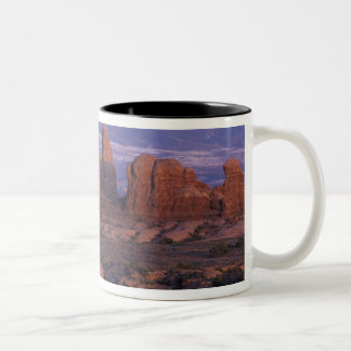 NA, USA, Utah, Arches National Park. Garden of Two-Tone Coffee Mug