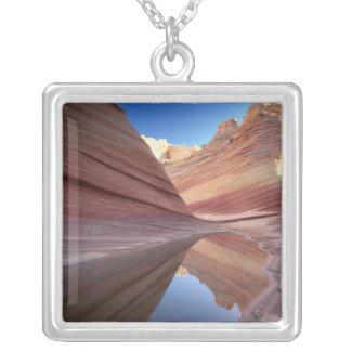 NA, USA, Utah, Vermillion Cliffs. Coyote Butte 2 Square Pendant Necklace