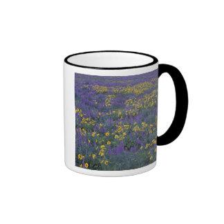 NA, USA, Washington Dalles, Lupine and Ringer Coffee Mug