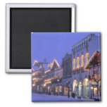 NA, USA, Washington, Leavenworth. Main Street 2 Inch Square Magnet
