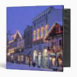 NA, USA, Washington, Leavenworth. Main Street Vinyl Binder