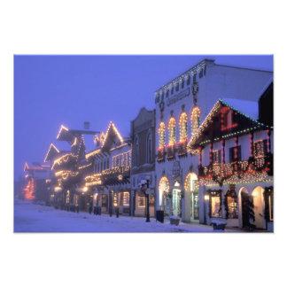 NA, USA, Washington, Leavenworth. Main Street Photo Print