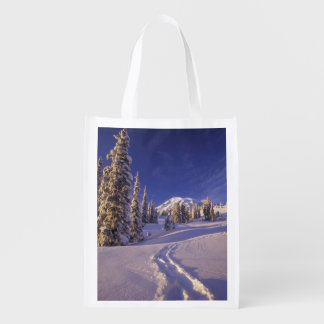 NA, USA, Washington, Mt. Rainier NP, Snowshoe Grocery Bag