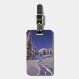 NA, USA, Washington, Mt. Rainier NP, Snowshoe Luggage Tag