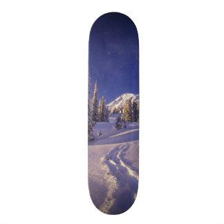 NA, USA, Washington, Mt. Rainier NP, Snowshoe Skateboard