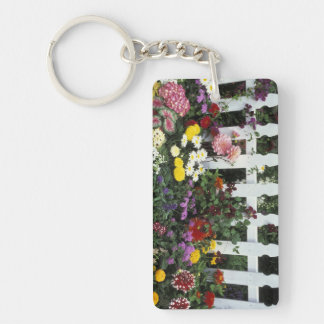 NA, USA, Washington, Sammamish, White picket Keychain